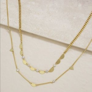 Forma Crystal Tiered 18k Gold Plated Choker Set